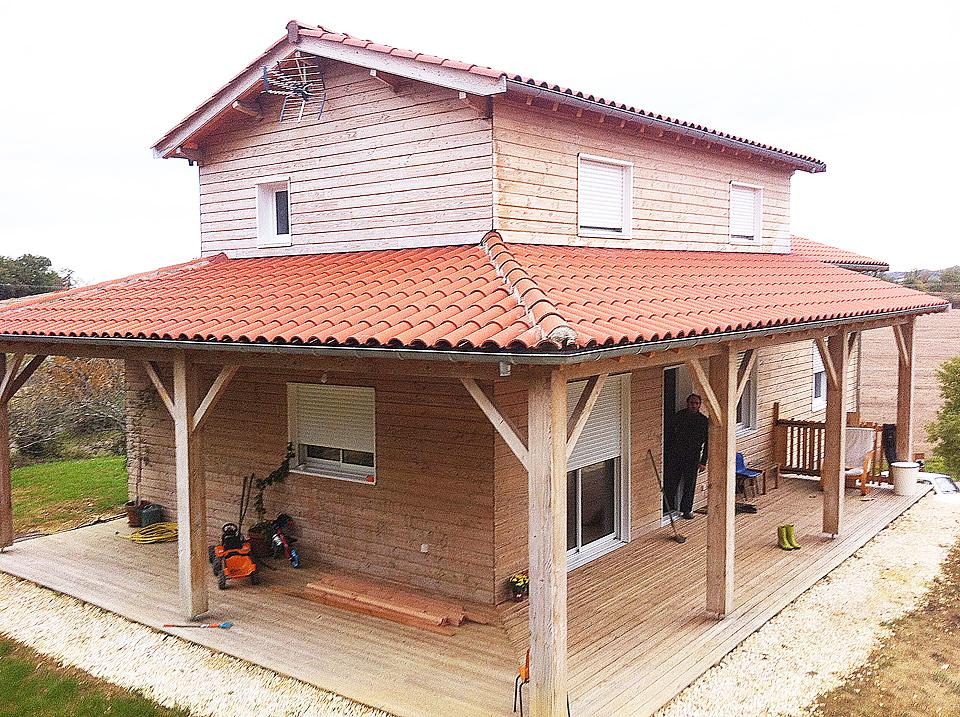 Nos r alisations nature bois conception maisons for Conception maison bois