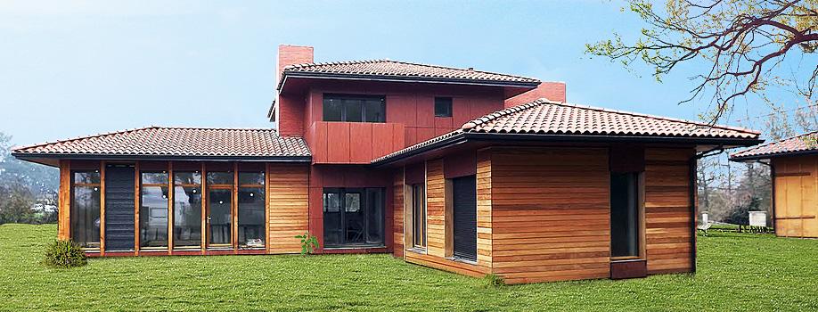 Nature bois conception maisons ossature bois gers for Conception maison bois